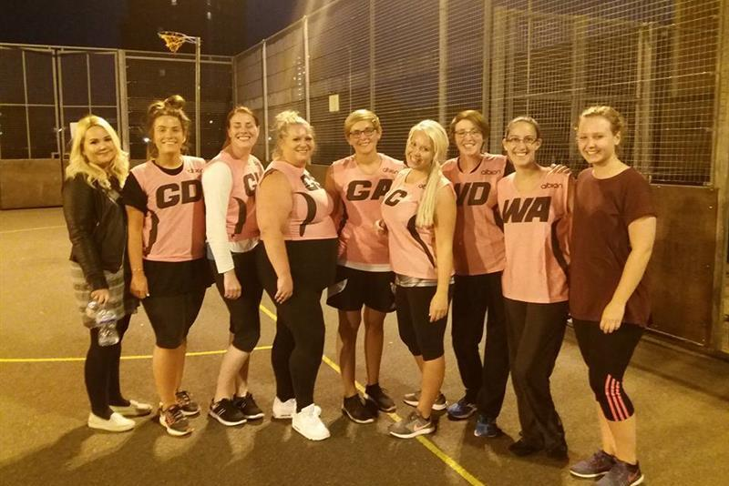 Ark Dickens staff Back to Netball success